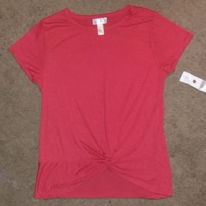 NWT 👕 WOMEN'S RED SHORT SLEEVED BLOUSE SZ. LG